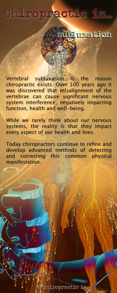 Day 03 - Chiropractic is... Subluxation, chiropractic brochures