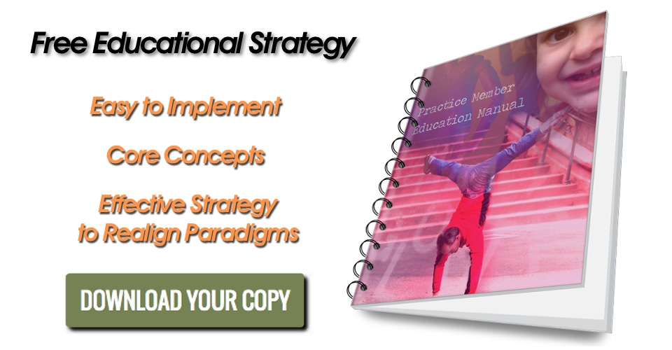 chiropractic practice member education manual slider