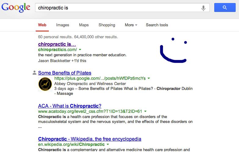 Chiropractic is SEO