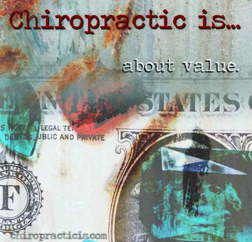 Chiropractic brochures, brochure about value