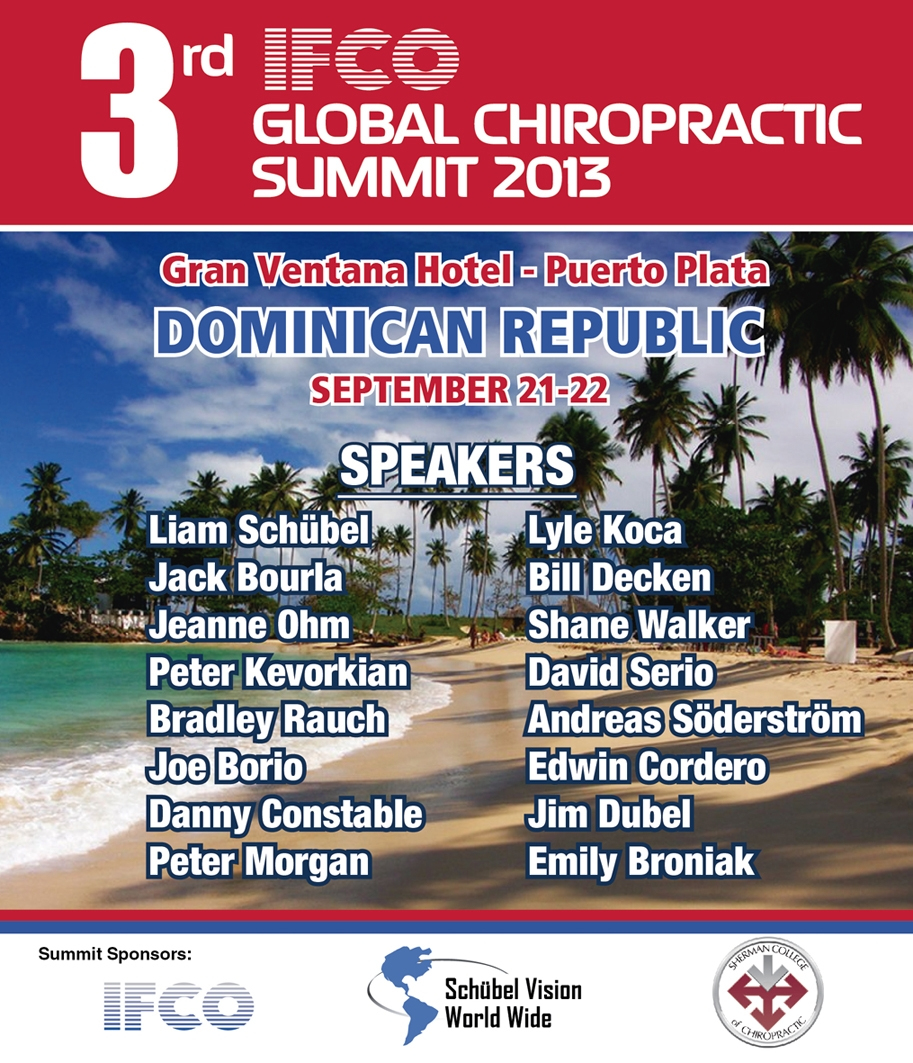 IFCO Global Summit Chiropractic Seminar