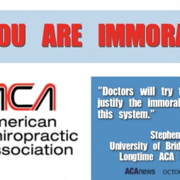 Immorality and the American Chiropractic Association ACA