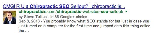 Get Your Chiropractic Website Google + Authorship