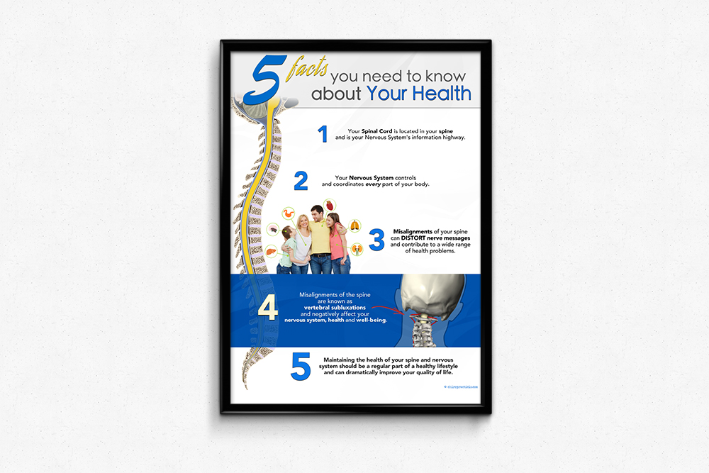 New Vertebral Subluxation Chiropractic Poster and Handouts