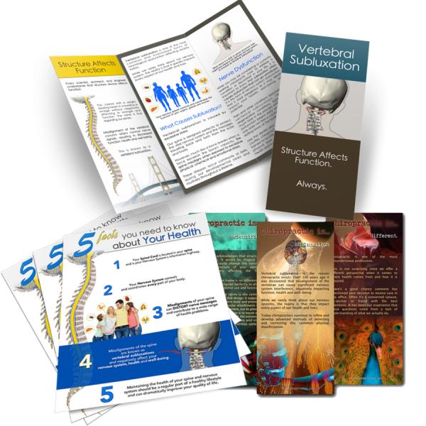 Chiropractic brochures sample pack