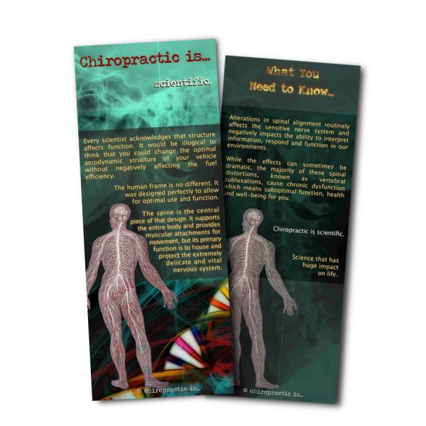 chiropractic is Scientific Brochure Front and Back Sample