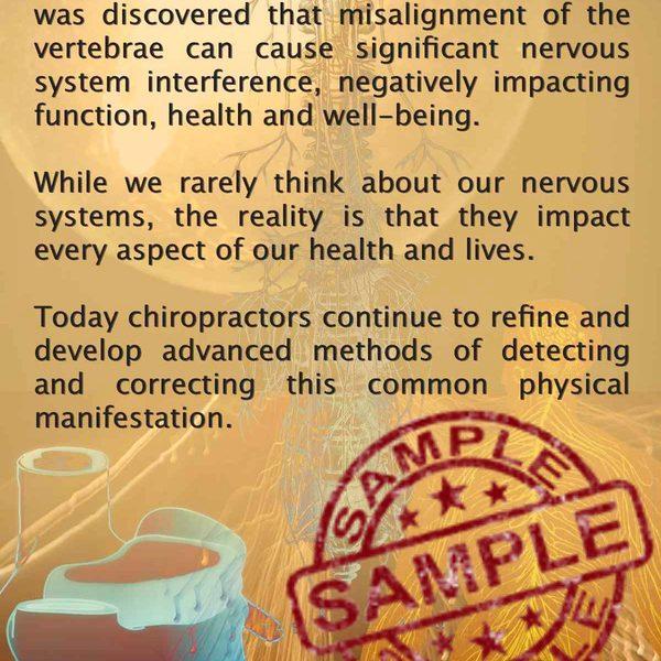 chiropractic is Subluxation brochure Front Sample