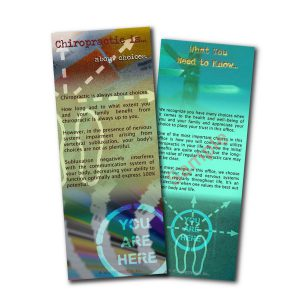 chiropractic is about choices brochures Front and Back Sample
