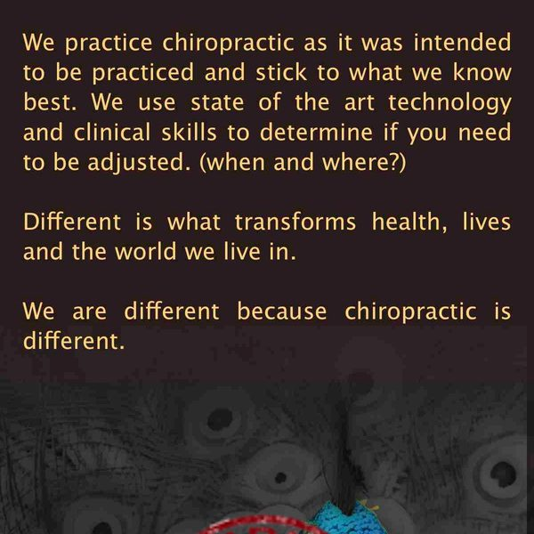 chiropractic is different brochure Back Sample