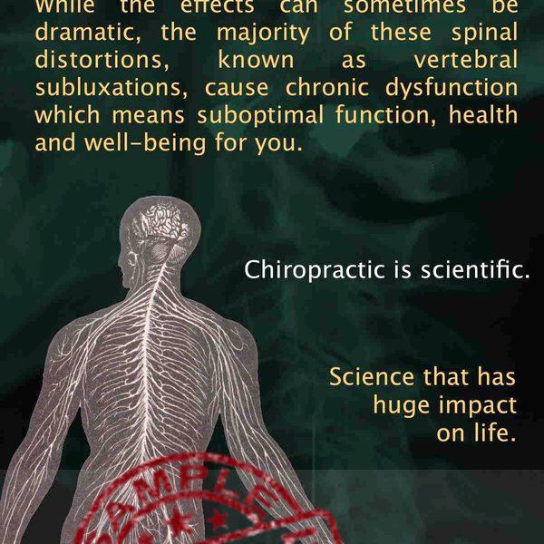 chiropractic is... brochure Scientific Back Sample