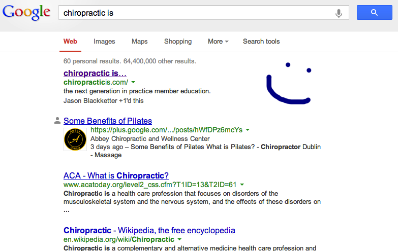 Chiropractic is SEO