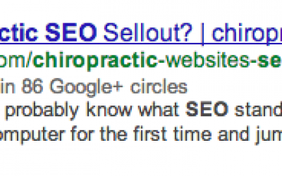 Get Your Chiropractic Website Google + Authorship