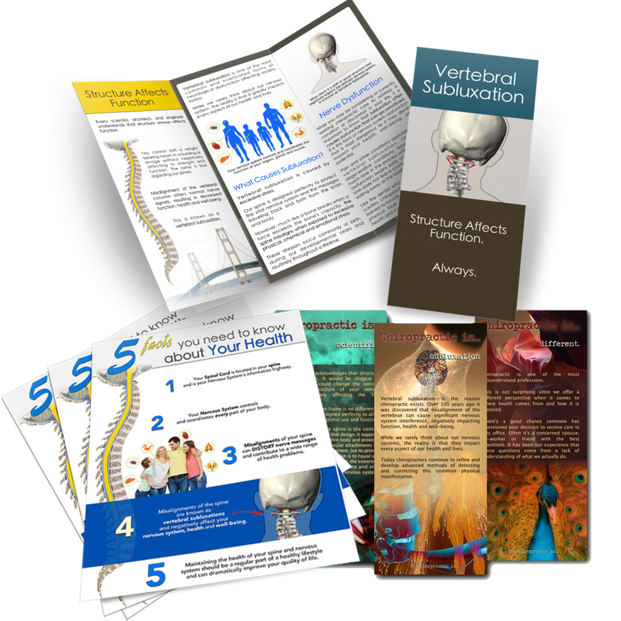 Chiropractic brochures sample pack