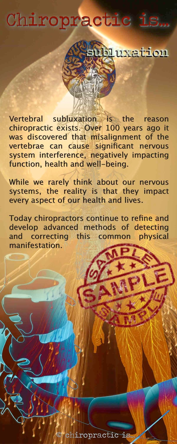chiropractic is Subluxation brochure Front Sample