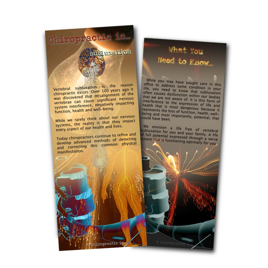 chiropractic is Subluxation brochure Front and Back