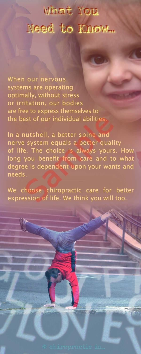 chiropractic is about expression brochure Back Sample