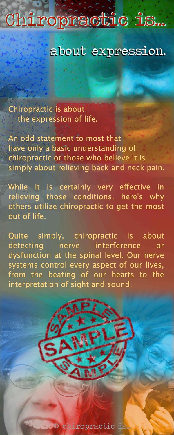 chiropractic is about expression brochure Front Sample