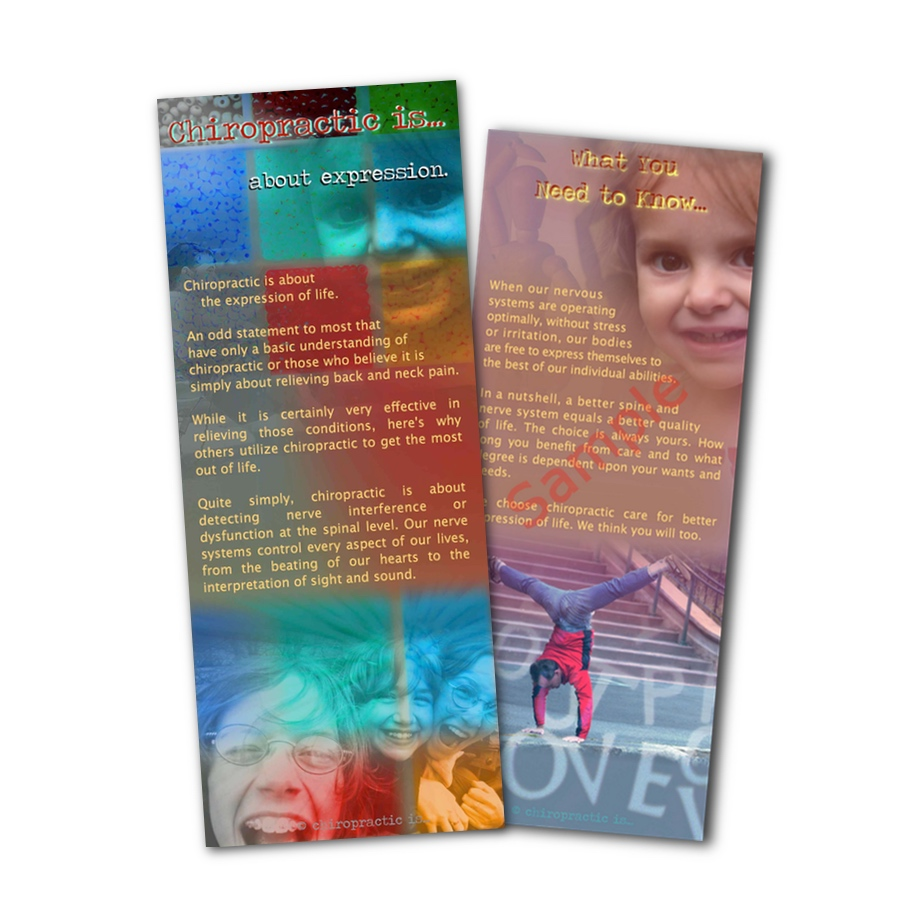 chiropractic is about expression brochure Front and Back Sample