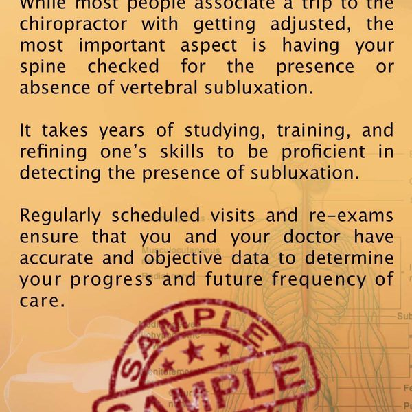 chiropractic is about getting checked brochure front Sample