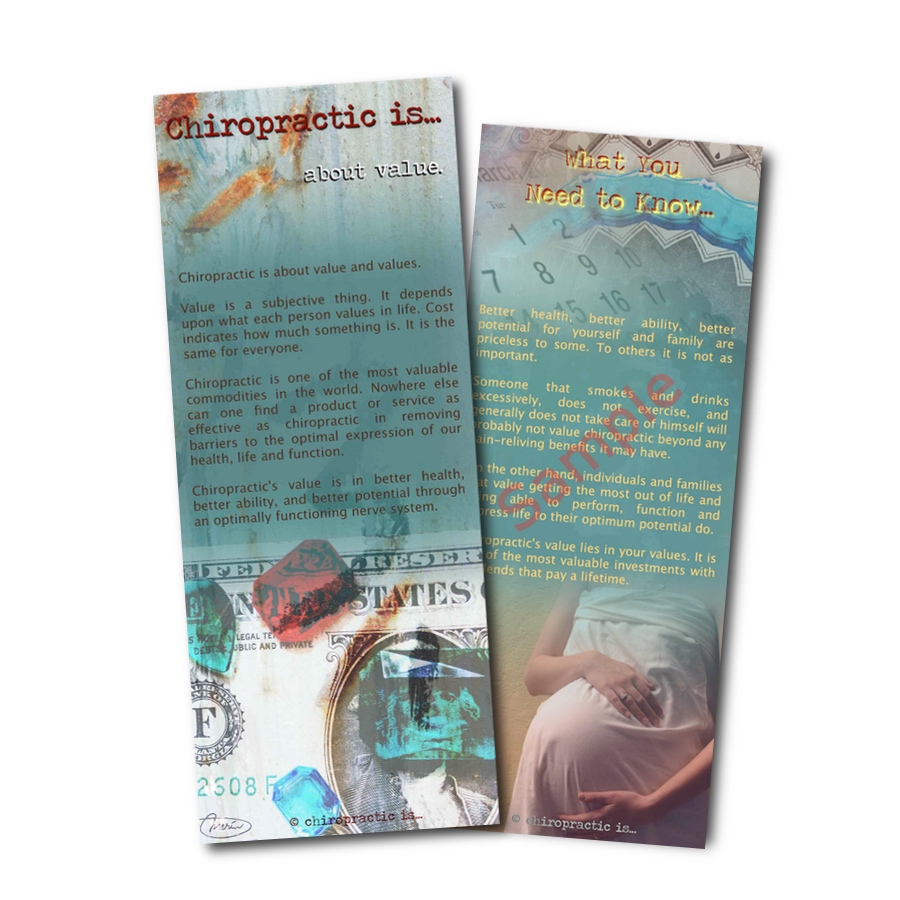chiropractic is about value brochure Front and Back Sample