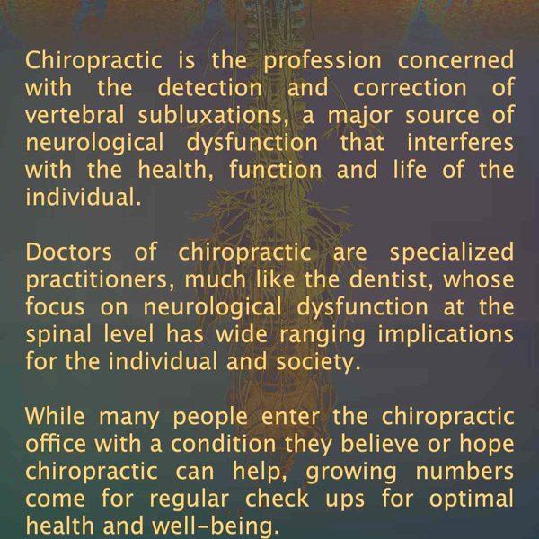 chiropractic is brochure Front Sample