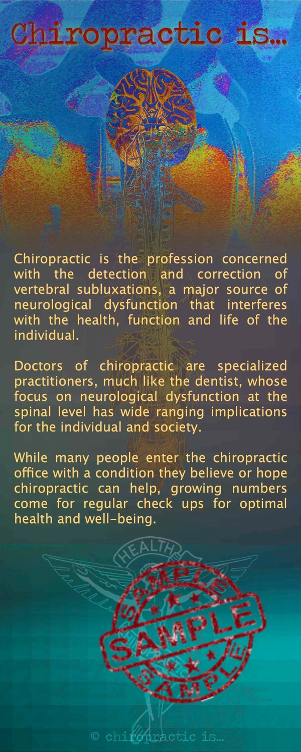 chiropractic is brochure Front Sample