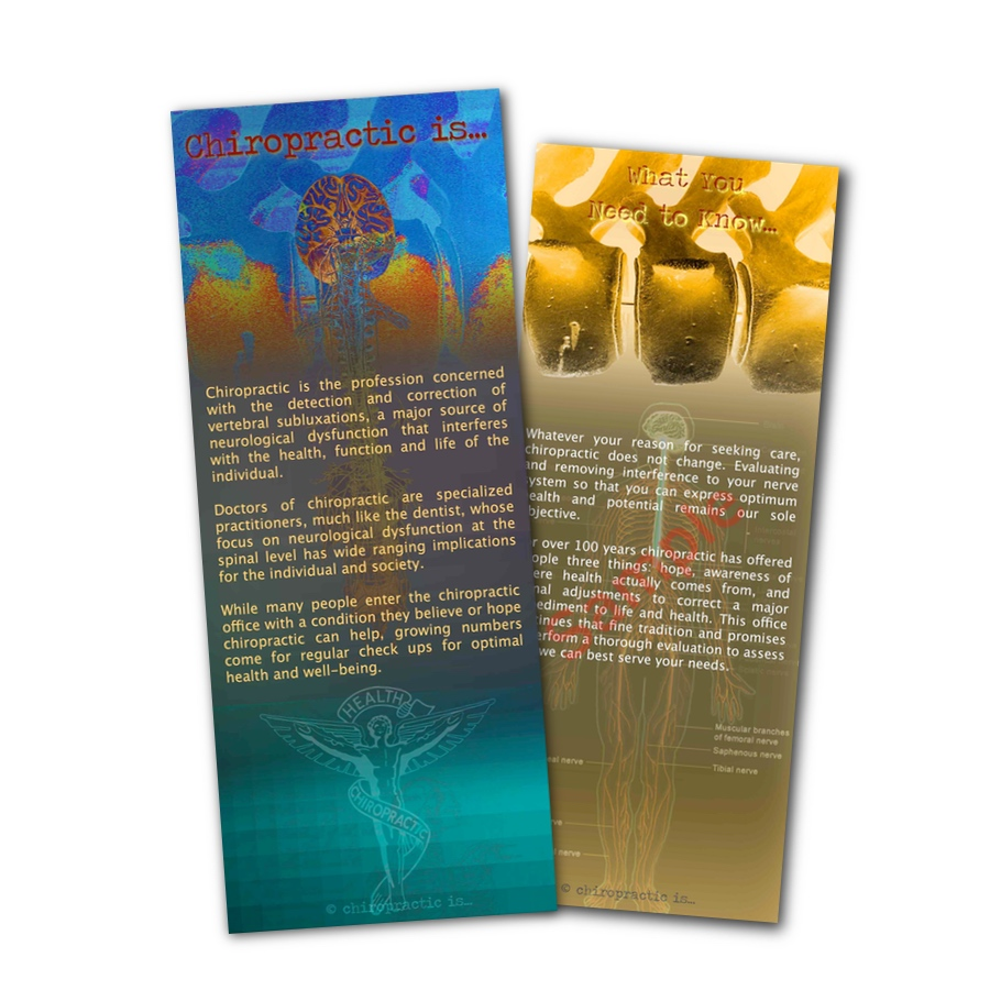 chiropractic is brochure Front and Back Sample