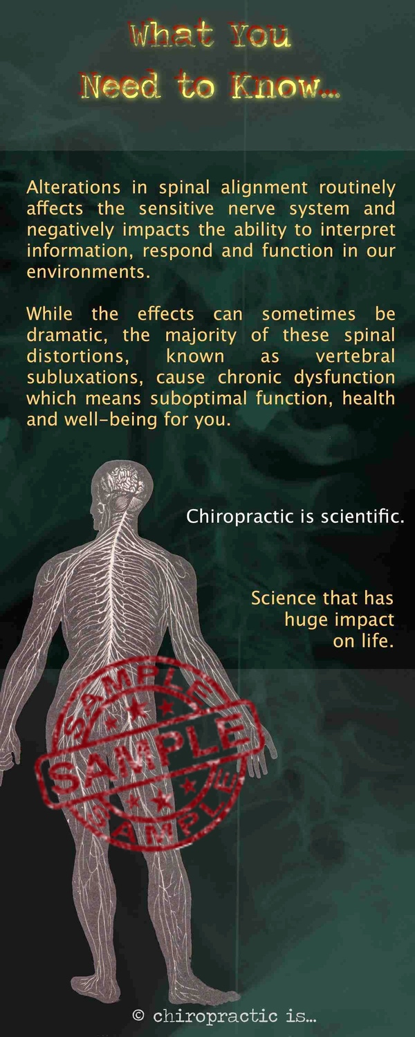 chiropractic is... brochure Scientific Back Sample